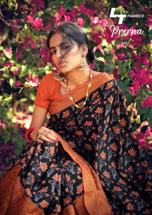 Lt Fabrics Prerna Saree Sari Wholesale Catalog 10 Pcs 17 510x720 - Lt Fabrics Prerna Saree Sari Wholesale Catalog 10 Pcs