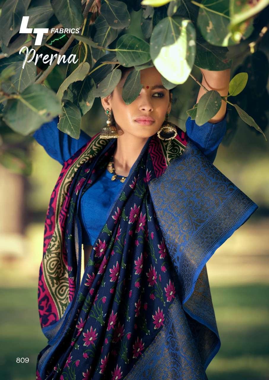 Lt Fabrics Prerna Saree Sari Wholesale Catalog 10 Pcs 18 - Lt Fabrics Prerna Saree Sari Wholesale Catalog 10 Pcs