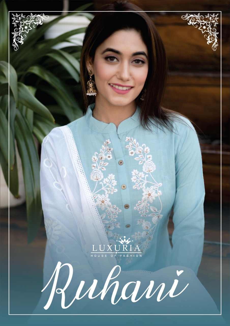 Luxuria Ruhani Kurti with Dupatta Wholesale Catalog 4 Pcs 1 - Luxuria Ruhani Kurti with Dupatta Wholesale Catalog 4 Pcs