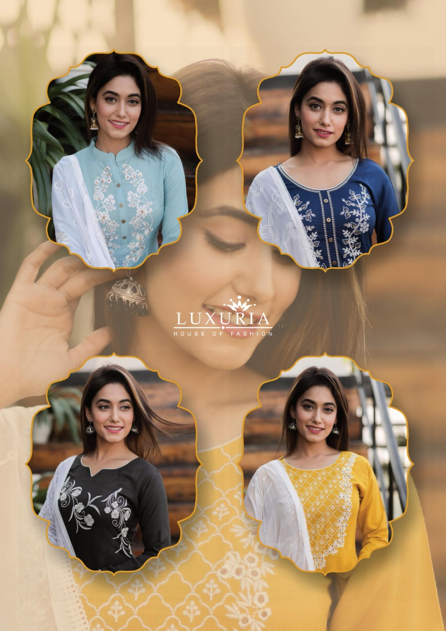 Luxuria Ruhani Kurti with Dupatta Wholesale Catalog 4 Pcs 10 - Luxuria Ruhani Kurti with Dupatta Wholesale Catalog 4 Pcs