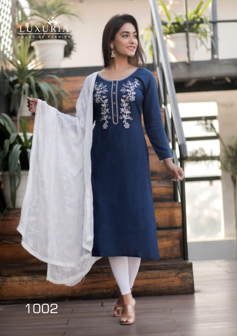 Luxuria Ruhani Kurti with Dupatta Wholesale Catalog 4 Pcs 8 - Luxuria Ruhani Kurti with Dupatta Wholesale Catalog 4 Pcs