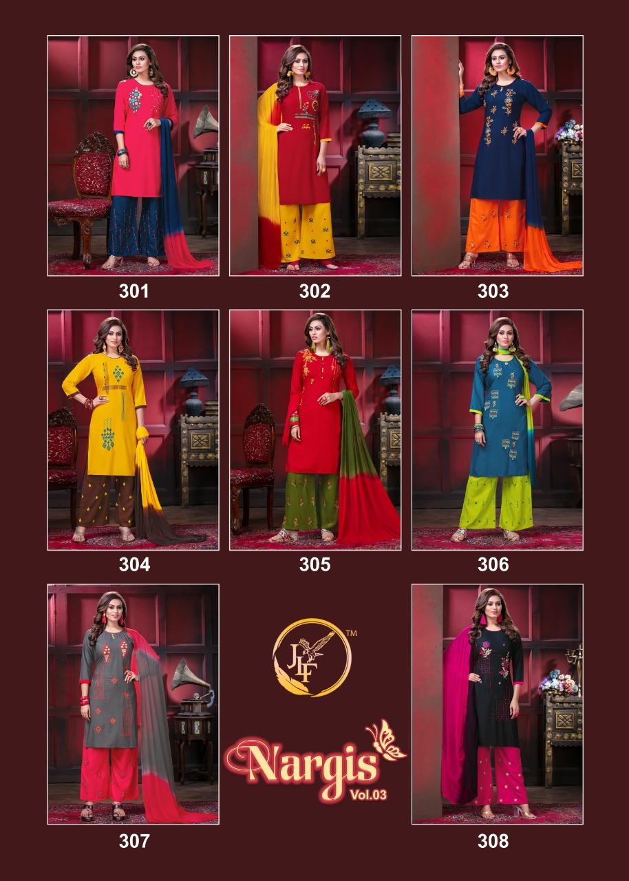 Nargis Vol 3 Kurti with Dupatta Bottom Wholesale Catalog 8 Pcs 11 - Nargis Vol 3 Kurti with Dupatta Bottom Wholesale Catalog 8 Pcs