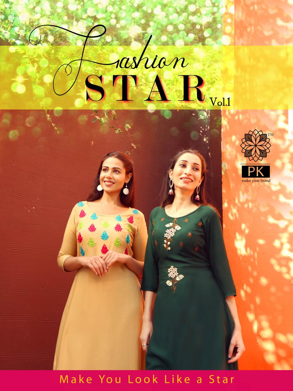 Pk Fashion Star Vol 1 Kurti Wholesale Catalog 10 Pcs 1 - Pk Fashion Star Vol 1 Kurti Wholesale Catalog 10 Pcs