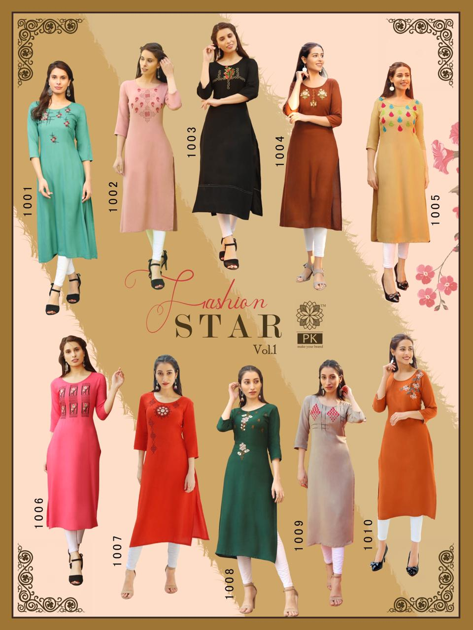 Pk Fashion Star Vol 1 Kurti Wholesale Catalog 10 Pcs 16 - Pk Fashion Star Vol 1 Kurti Wholesale Catalog 10 Pcs