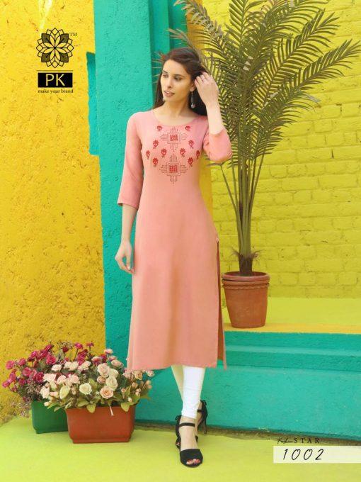 Pk Fashion Star Vol 1 Kurti Wholesale Catalog 10 Pcs 3 510x680 - Pk Fashion Star Vol 1 Kurti Wholesale Catalog 10 Pcs