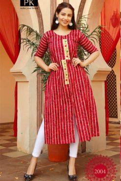 Pk Fashion Trend Vol 2 Kurti Wholesale Catalog 7 Pcs