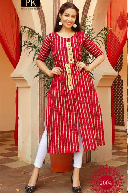 Pk Fashion Trend Vol 2 Kurti Wholesale Catalog 7 Pcs