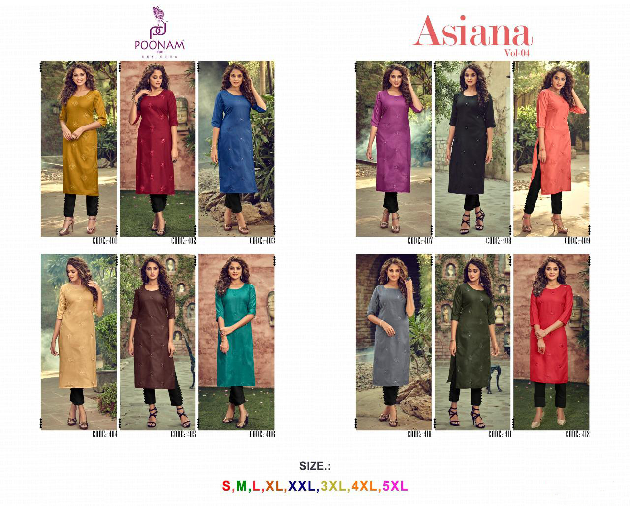 Poonam Designer Asiana Vol 4 Kurti Wholesale Catalog 12 Pcs 13 1 - Poonam Designer Asiana Vol 4 Kurti Wholesale Catalog 12 Pcs