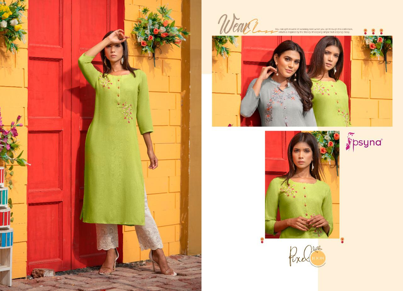 Psyna Pixel Kurti Wholesale Catalog 8 Pcs 10 - Psyna Pixel Kurti Wholesale Catalog 8 Pcs