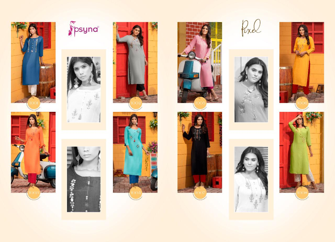 Psyna Pixel Kurti Wholesale Catalog 8 Pcs 11 - Psyna Pixel Kurti Wholesale Catalog 8 Pcs
