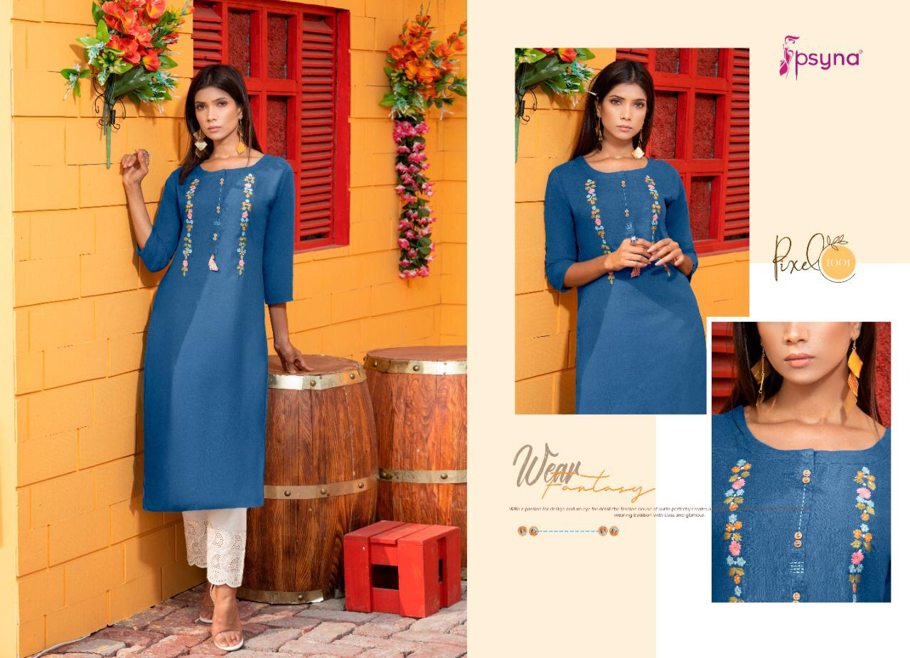 Psyna Pixel Kurti Wholesale Catalog 8 Pcs 2 - Psyna Pixel Kurti Wholesale Catalog 8 Pcs