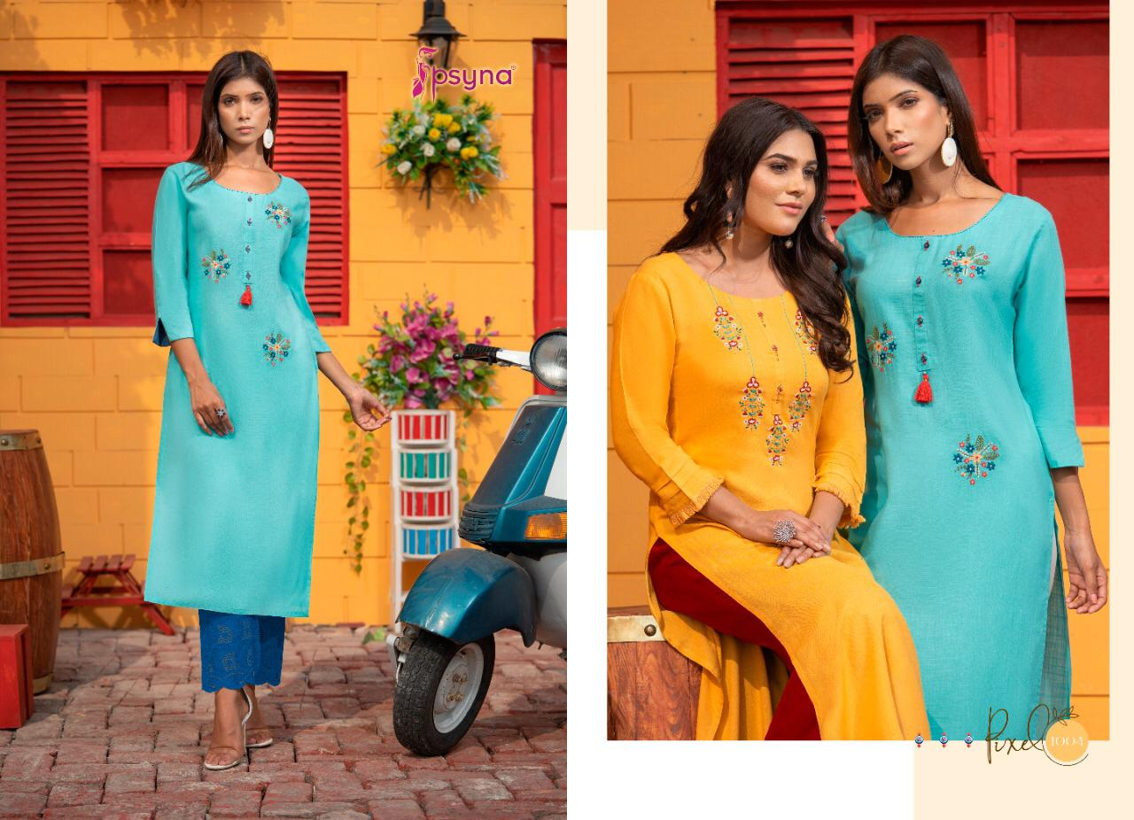 Psyna Pixel Kurti Wholesale Catalog 8 Pcs 5 - Psyna Pixel Kurti Wholesale Catalog 8 Pcs