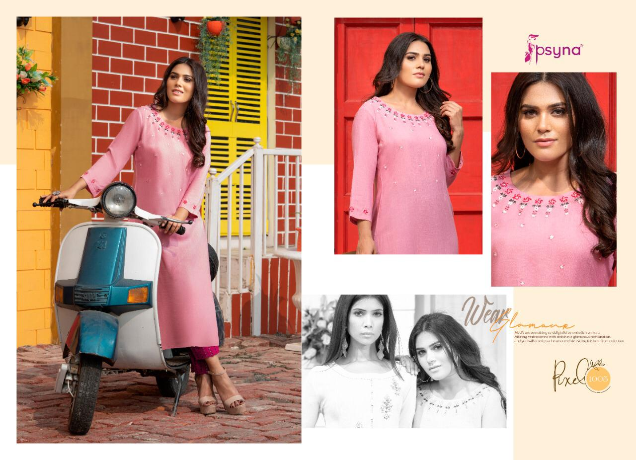 Psyna Pixel Kurti Wholesale Catalog 8 Pcs 7 - Psyna Pixel Kurti Wholesale Catalog 8 Pcs