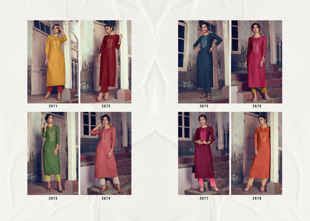 Rangoon Light Line Vol 4 Kurti by Kessi Wholesale Catalog 8 Pcs 11 - Rangoon Light Line Vol 4 Kurti by Kessi Wholesale Catalog 8 Pcs