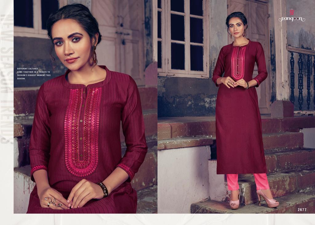 Rangoon Light Line Vol 4 Kurti by Kessi Wholesale Catalog 8 Pcs 4 - Rangoon Light Line Vol 4 Kurti by Kessi Wholesale Catalog 8 Pcs