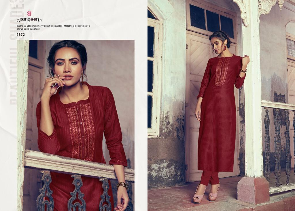 Rangoon Light Line Vol 4 Kurti by Kessi Wholesale Catalog 8 Pcs 6 - Rangoon Light Line Vol 4 Kurti by Kessi Wholesale Catalog 8 Pcs
