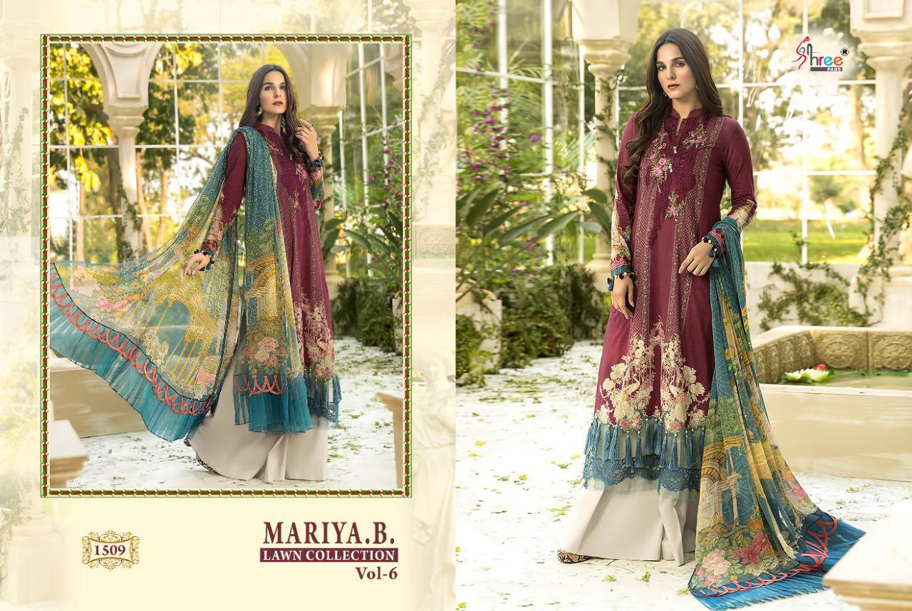 Shree Fabs Mariya B Lawn Collection Vol 6 Salwar Suit Wholesale Catalog 6 Pcs 5 - Shree Fabs Mariya B Lawn Collection Vol 6 Salwar Suit Wholesale Catalog 6 Pcs