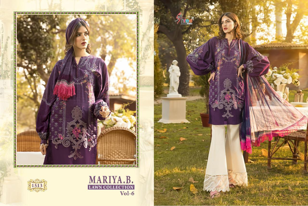 Shree Fabs Mariya B Lawn Collection Vol 6 Salwar Suit Wholesale Catalog 6 Pcs 7 - Shree Fabs Mariya B Lawn Collection Vol 6 Salwar Suit Wholesale Catalog 6 Pcs