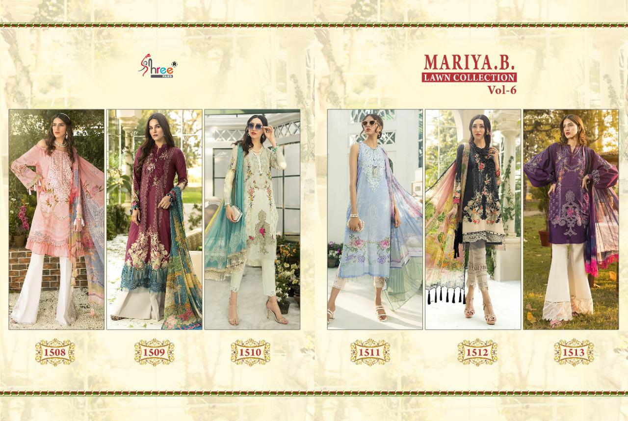 Shree Fabs Mariya B Lawn Collection Vol 6 Salwar Suit Wholesale Catalog 6 Pcs 8 - Shree Fabs Mariya B Lawn Collection Vol 6 Salwar Suit Wholesale Catalog 6 Pcs