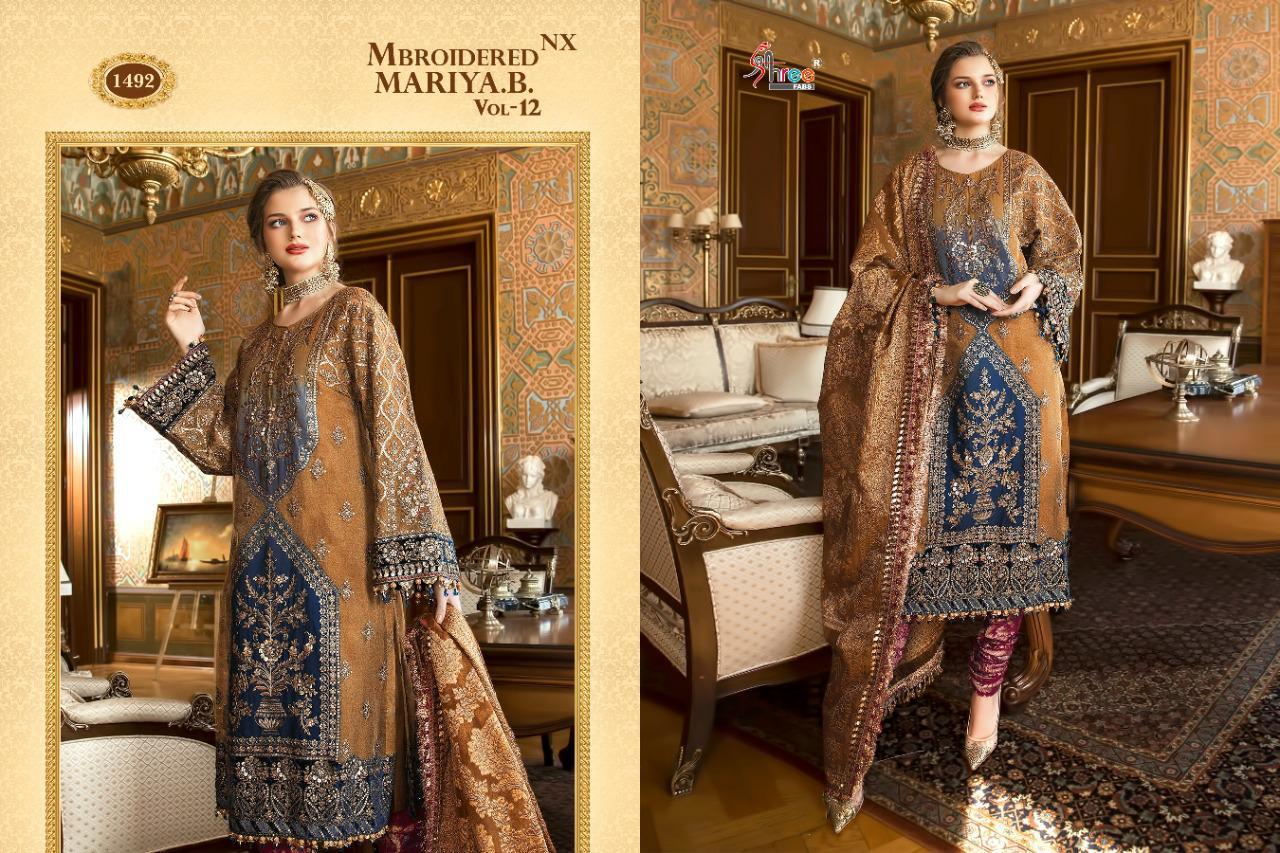 Shree Fabs Mbroidered Mariya B Vol 12 Nx Salwar Suit Wholesale Catalog 3 Pcs 5 - Shree Fabs Mbroidered Mariya B Vol 12 Nx Salwar Suit Wholesale Catalog 3 Pcs