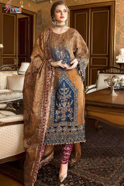 Shree Fabs Mbroidered Mariya B Vol 12 Nx Salwar Suit Wholesale Catalog 3 Pcs - Shree Fabs Mbroidered Mariya B Vol 12 Nx Salwar Suit Wholesale Catalog 3 Pcs