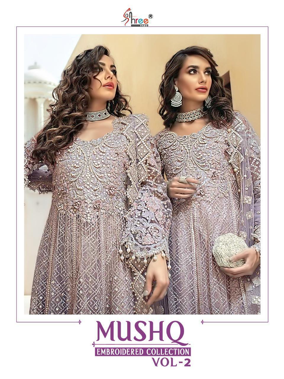 Shree Fabs Mushq Embroidered Collection Vol 2 Salwar Suit Wholesale Catalog 4 Pcs 1 - Shree Fabs Mushq Embroidered Collection Vol 2 Salwar Suit Wholesale Catalog 4 Pcs