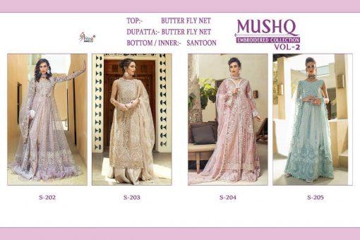 Shree Fabs Mushq Embroidered Collection Vol 2 Salwar Suit Wholesale Catalog 4 Pcs 7 510x340 - Shree Fabs Mushq Embroidered Collection Vol 2 Salwar Suit Wholesale Catalog 4 Pcs
