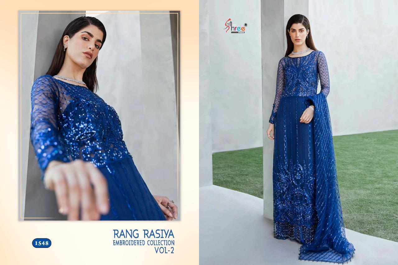 Shree Fabs Rang Rasiya Embroidered Collection Vol 2 Salwar Suit Wholesale Catalog 3 Pcs 3 - Shree Fabs Rang Rasiya Embroidered Collection Vol 2 Salwar Suit Wholesale Catalog 3 Pcs