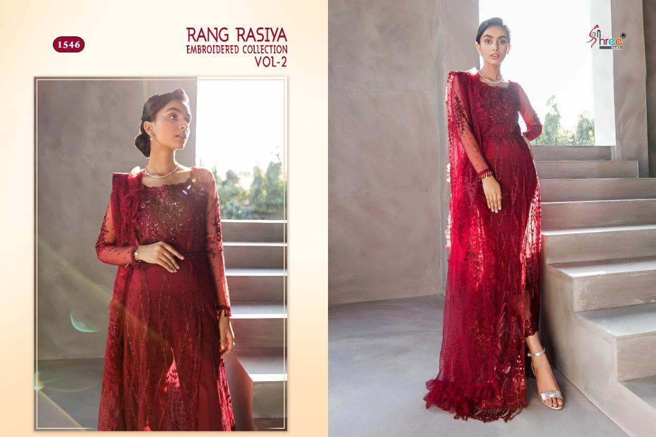 Shree Fabs Rang Rasiya Embroidered Collection Vol 2 Salwar Suit Wholesale Catalog 3 Pcs 4 - Shree Fabs Rang Rasiya Embroidered Collection Vol 2 Salwar Suit Wholesale Catalog 3 Pcs