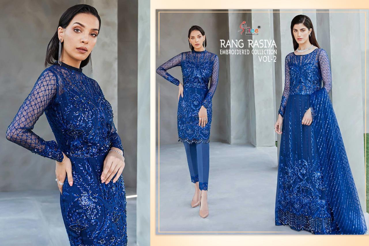 Shree Fabs Rang Rasiya Embroidered Collection Vol 2 Salwar Suit Wholesale Catalog 3 Pcs 6 - Shree Fabs Rang Rasiya Embroidered Collection Vol 2 Salwar Suit Wholesale Catalog 3 Pcs
