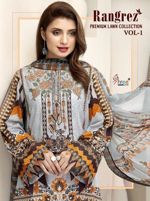 Shree Fabs Rangrez Lawn Premium Collection Vol 1 Salwar Suit Wholesale Catalog 6 Pcs 1 510x684 - Shree Fabs Rangrez Premium Lawn Collection Vol 1 Salwar Suit Wholesale Catalog 6 Pcs