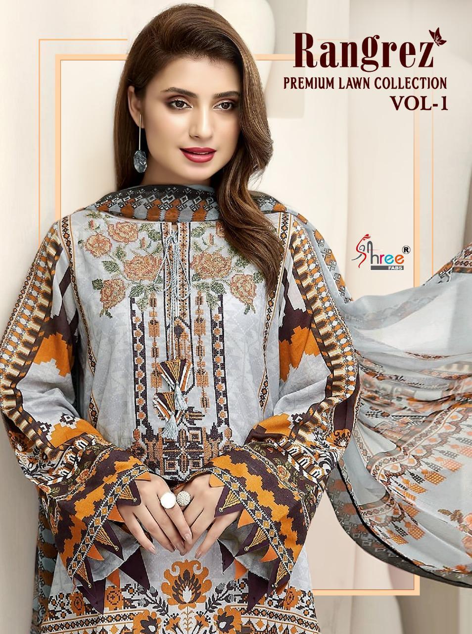 Shree Fabs Rangrez Lawn Premium Collection Vol 1 Salwar Suit Wholesale Catalog 6 Pcs 1 - Shree Fabs Rangrez Premium Lawn Collection Vol 1 Salwar Suit Wholesale Catalog 6 Pcs