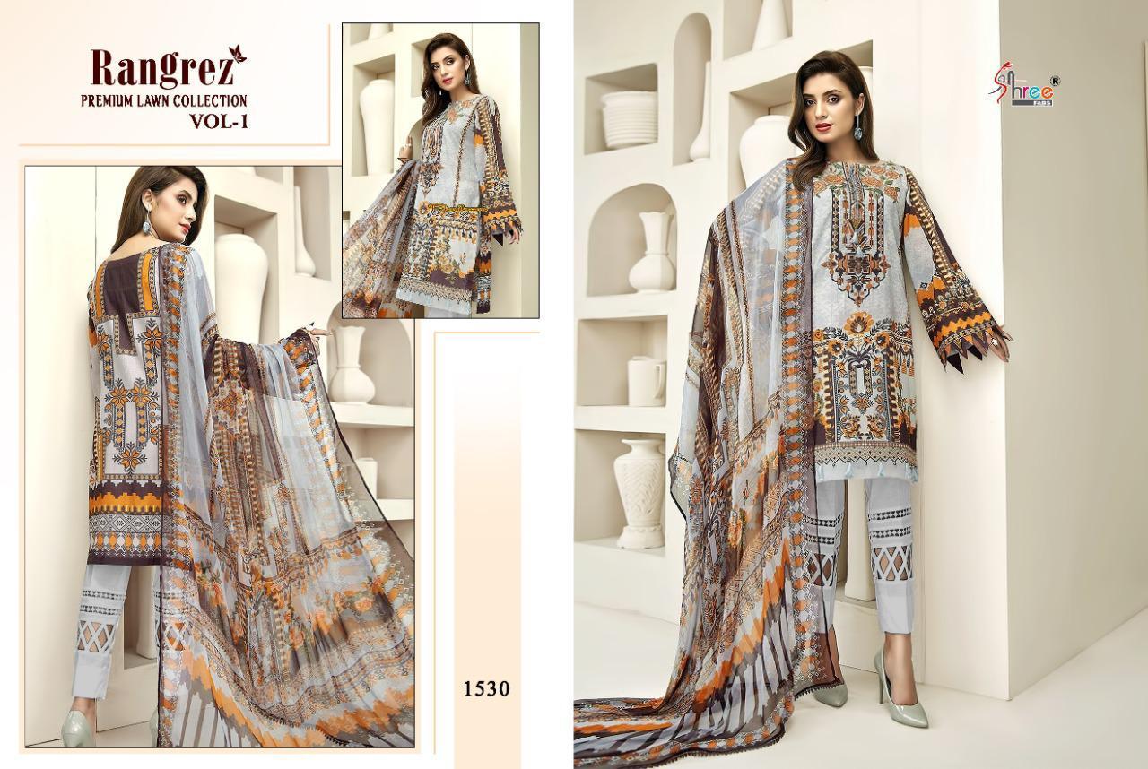 Shree Fabs Rangrez Lawn Premium Collection Vol 1 Salwar Suit Wholesale Catalog 6 Pcs 11 - Shree Fabs Rangrez Premium Lawn Collection Vol 1 Salwar Suit Wholesale Catalog 6 Pcs