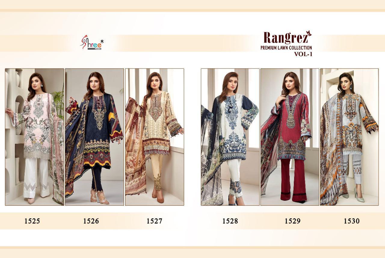 Shree Fabs Rangrez Lawn Premium Collection Vol 1 Salwar Suit Wholesale Catalog 6 Pcs 13 - Shree Fabs Rangrez Premium Lawn Collection Vol 1 Salwar Suit Wholesale Catalog 6 Pcs