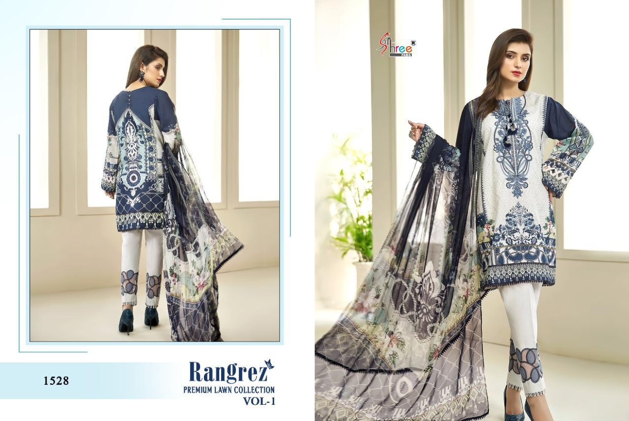Shree Fabs Rangrez Lawn Premium Collection Vol 1 Salwar Suit Wholesale Catalog 6 Pcs 6 - Shree Fabs Rangrez Premium Lawn Collection Vol 1 Salwar Suit Wholesale Catalog 6 Pcs