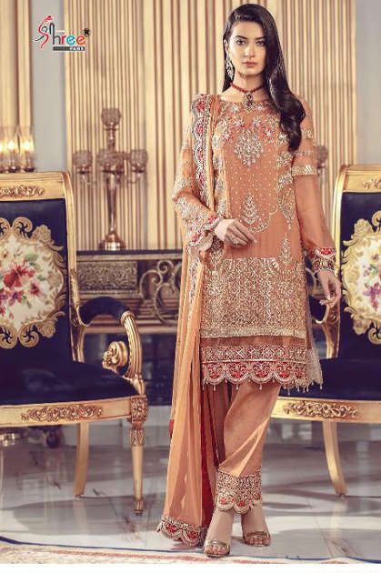 Shree Fabs Serene Premium Embroiderd Vol 6 Salwar Suit Wholesale Catalog 6 Pcs
