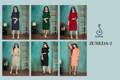 Suvesh Zubeda Vol 2 Kurti Wholesale Catalog 6 Pcs 7 510x340 - Suvesh Zubeda Vol 2 Kurti Wholesale Catalog 6 Pcs