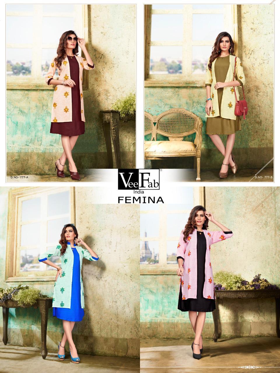 Vee Fab Femina Kurti Wholesale Catalog 4 Pcs 6 - Vee Fab Femina Kurti Wholesale Catalog 4 Pcs