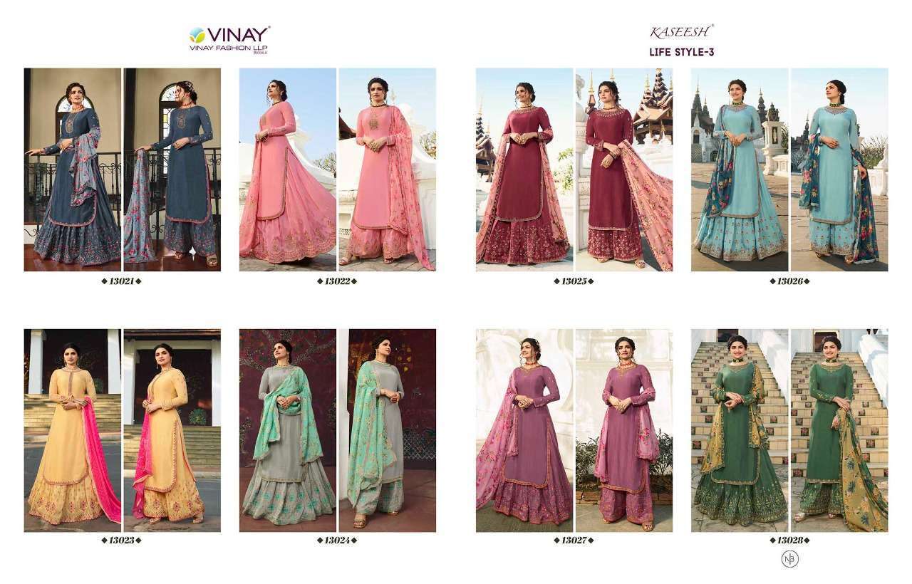 Vinay Kaseesh Lifestyle Vol 3 Prachi Desai Salwar Suit Wholesale Catalog 8 Pcs 19 - Vinay Kaseesh Lifestyle Vol 3 Prachi Desai Salwar Suit Wholesale Catalog 8 Pcs