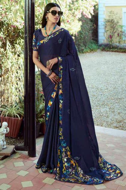 Vinay Sheesha Starwalk Vol 61 Digital Saree Sari Wholesale Catalog 9 Pcs