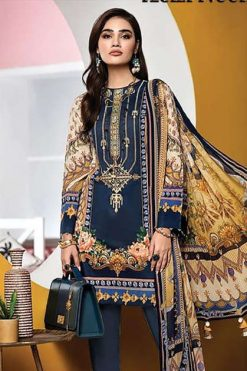 Agha Noor Vol 3 Luxury Lawn Collection Salwar Suit Wholesale Catalog 10 Pcs