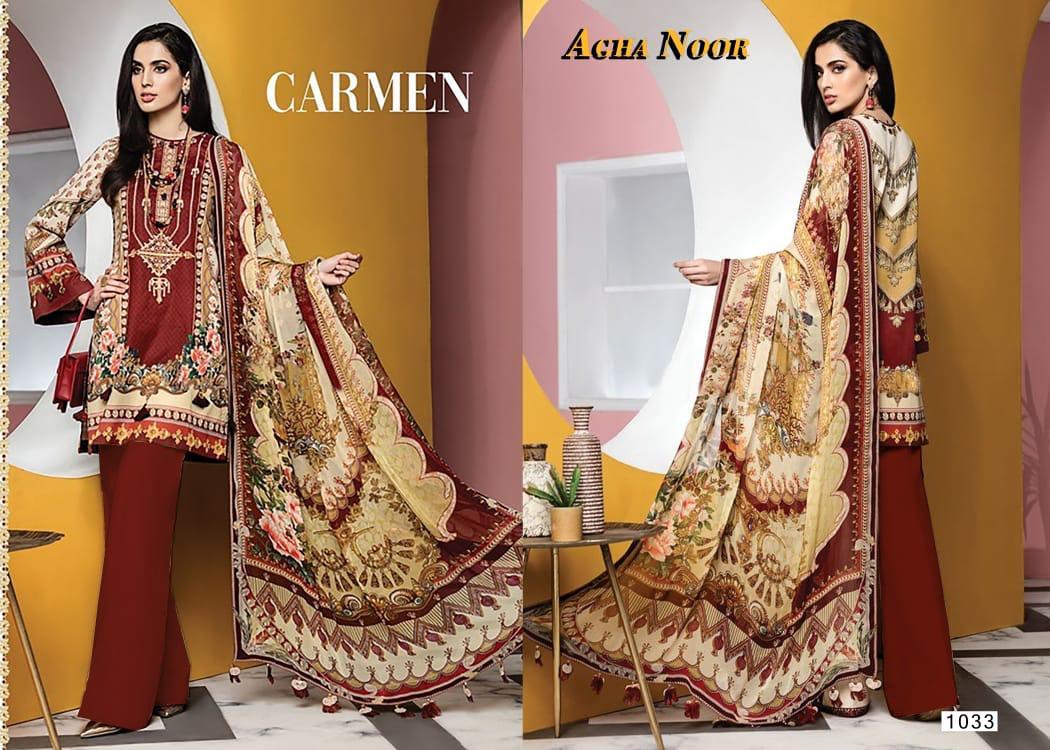 Agha Noor Vol 3 Luxury Lawn Collection Salwar Suit Wholesale Catalog 10 Pcs 8 - Agha Noor Vol 3 Luxury Lawn Collection Salwar Suit Wholesale Catalog 10 Pcs