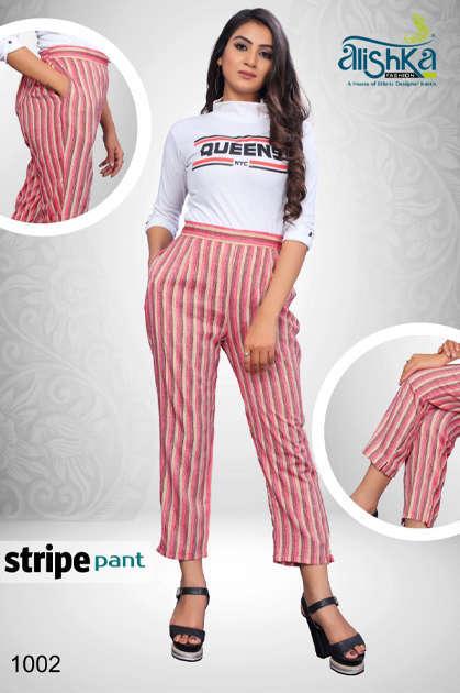 Alishka Stripe Pant Wholesale Catalog 4 Pcs - Alishka Stripe Pant Wholesale Catalog 4 Pcs