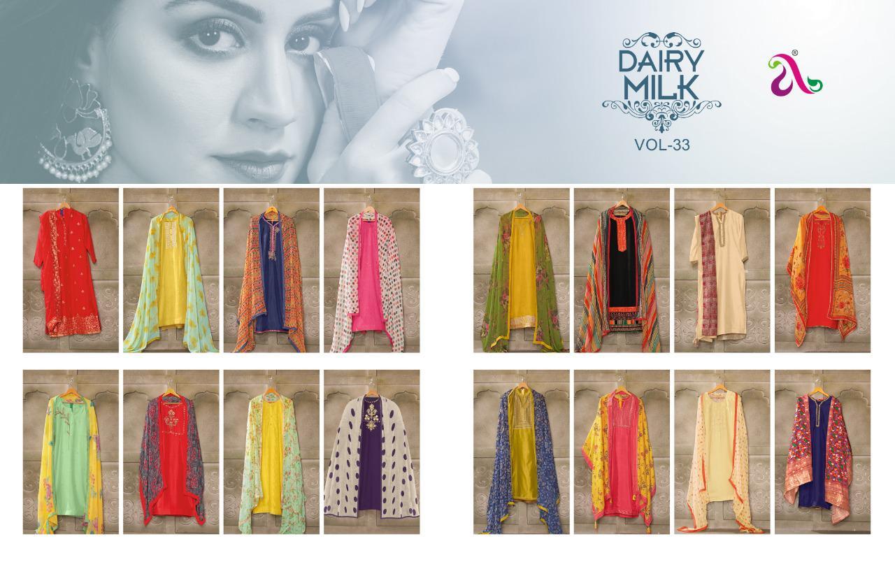 Angroop Dairy Milk Vol 33 Salwar Suit Wholesale Catalog 16 Pcs 19 - Angroop Dairy Milk Vol 33 Salwar Suit Wholesale Catalog 16 Pcs