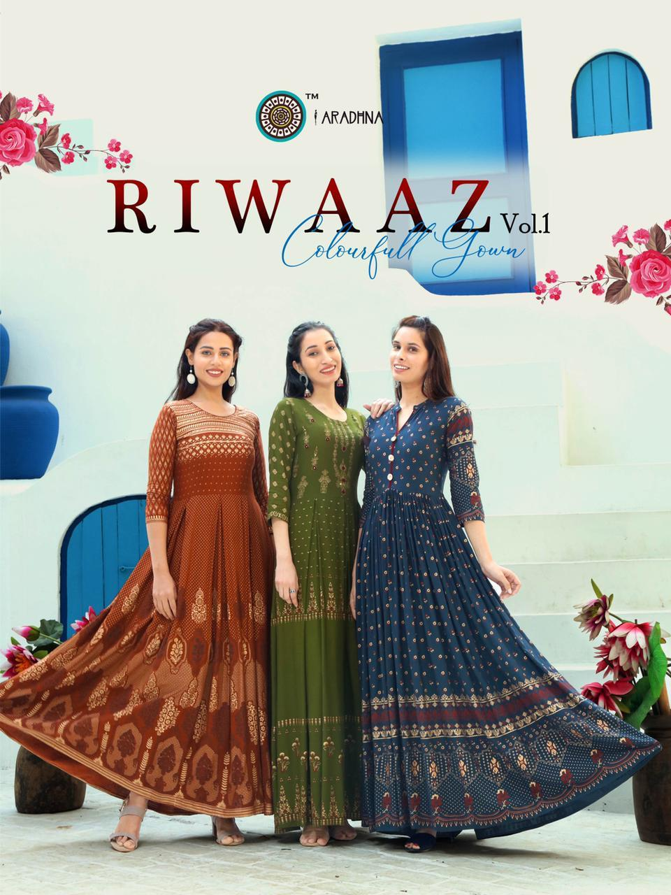 Aradhna Riwaaz Vol 1 Kurti Wholesale Catalog 11 Pcs 1 - Aradhna Riwaaz Vol 1 Kurti Wholesale Catalog 11 Pcs