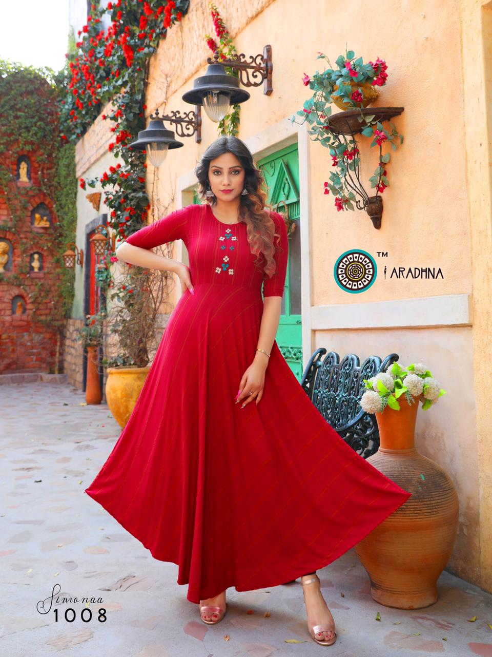 Aradhna Simonaa Vol 1 Kurti Wholesale Catalog 8 Pcs 10 - Aradhna Simonaa Vol 1 Kurti Wholesale Catalog 8 Pcs