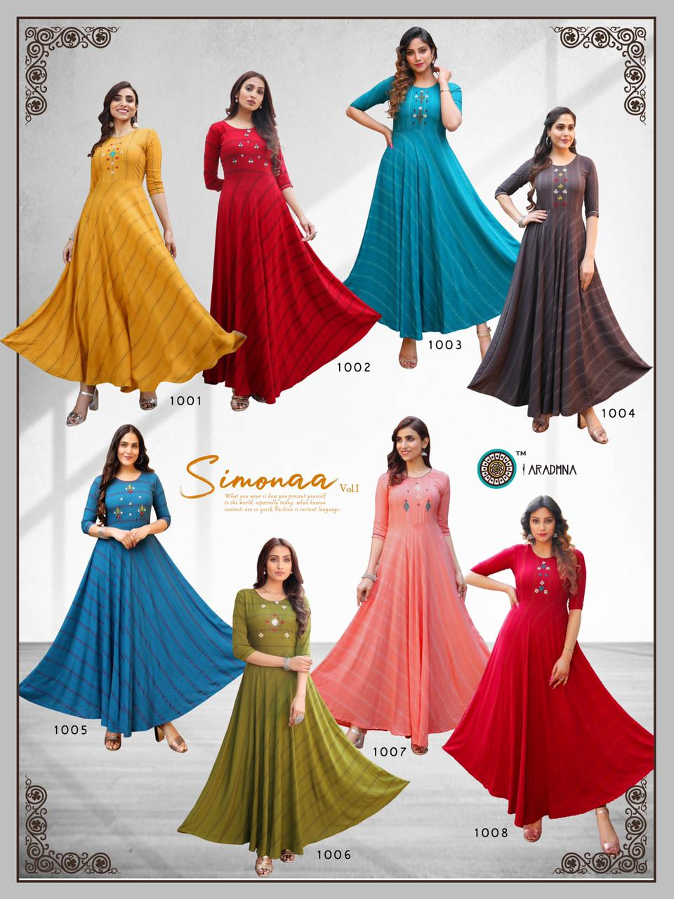 Aradhna Simonaa Vol 1 Kurti Wholesale Catalog 8 Pcs 11 - Aradhna Simonaa Vol 1 Kurti Wholesale Catalog 8 Pcs