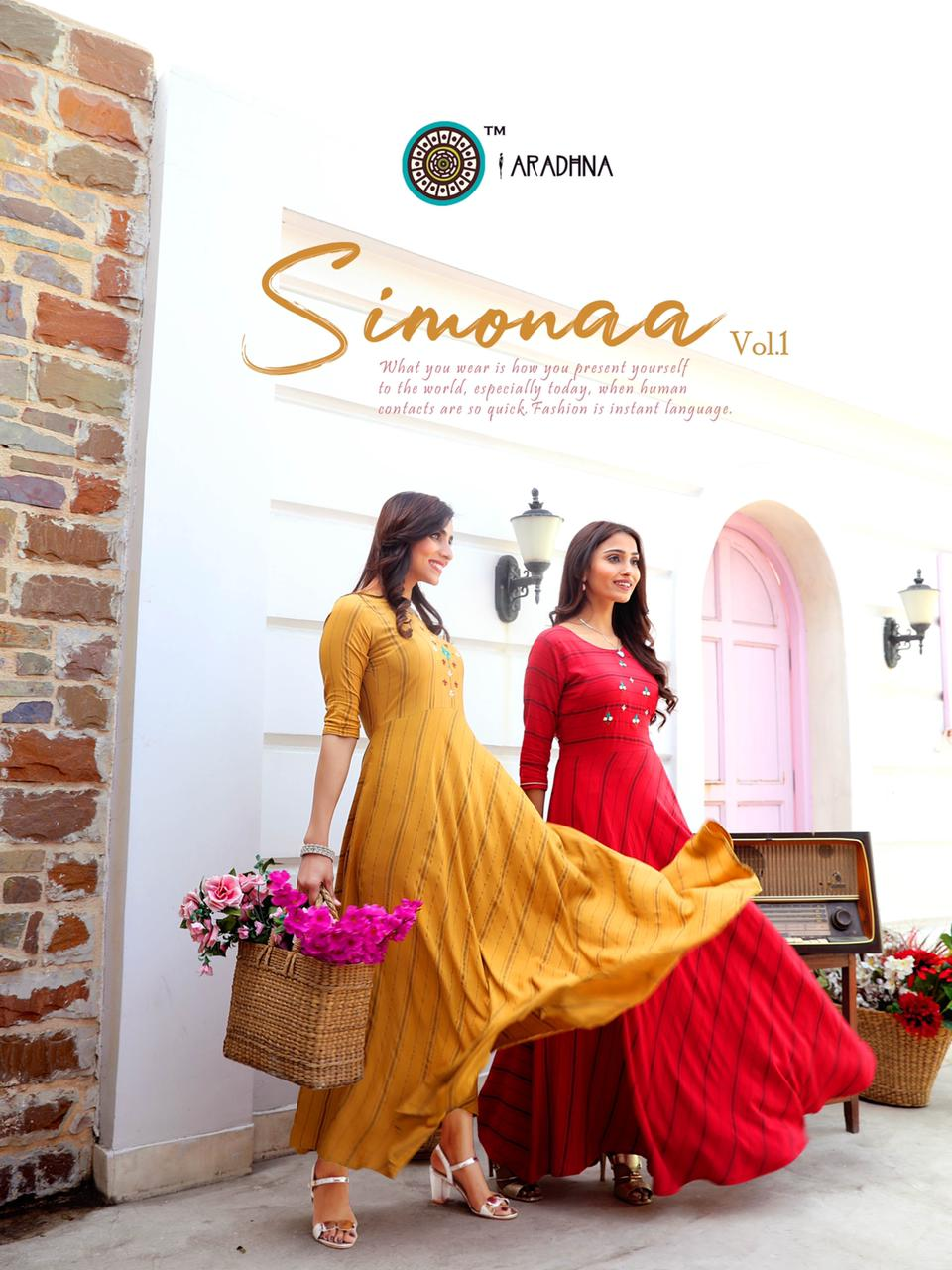 Aradhna Simonaa Vol 1 Kurti Wholesale Catalog 8 Pcs 12 - Aradhna Simonaa Vol 1 Kurti Wholesale Catalog 8 Pcs