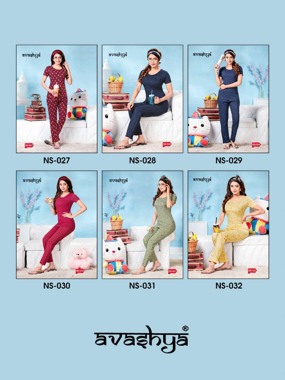 Avashya Premium Night Wear Vol 5 Wholesale Catalog 6 Pcs 8 - Avashya Premium Night Wear Vol 5 Wholesale Catalog 6 Pcs
