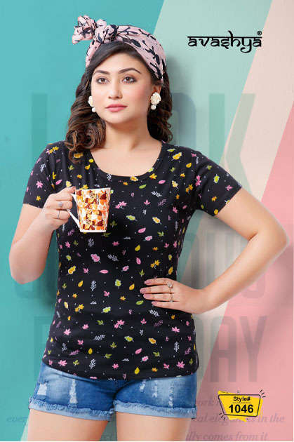 Avashya Retro Vol 54 Half Sleeves T-Shirt Wholesale Catalog 6 Pcs